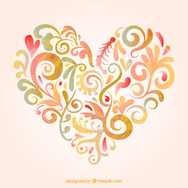 626x626 Floral Heart Vector Free Download