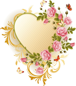 326x368 Floral Heart Border Designs Free Vector Download (15,735 Free