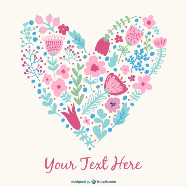 626x626 Floral Heart Design Vector Free Download