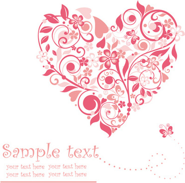 372x368 Floral Heart Free Vector Download (11,530 Free Vector) For
