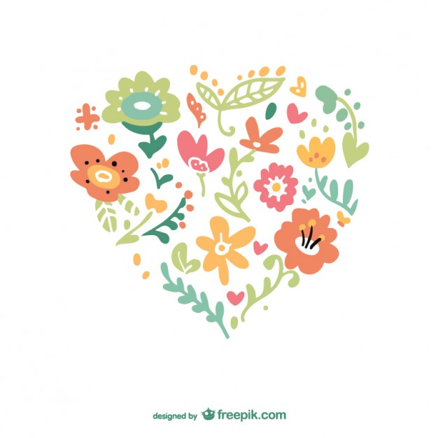 626x626 Floral Heart Vector Vector Free Download