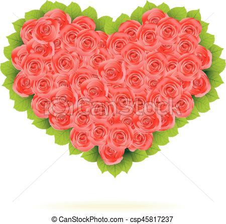 450x446 Floral Heart. Beautiful Vector Illustration.