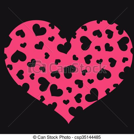 450x470 Abstract Floral Heart Vector