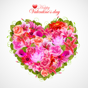368x368 Flower Heart Vector Free Vector Download (14,164 Free Vector) For