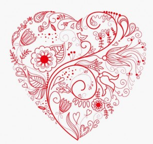 306x288 Greeting Floral Heart Vector Ai,eps Format Free Vector Download