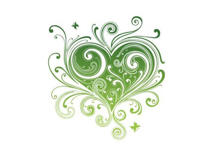 690x503 Swirl Floral Heart Vector Webbyarts