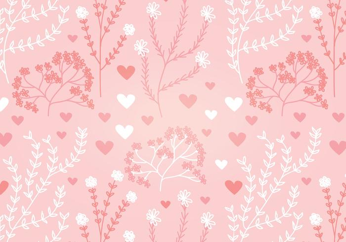 700x490 Floral Heart Vector Seamless Pattern