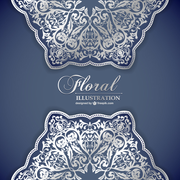625x624 Floral Lace Pattern Invitation Vector Free Download