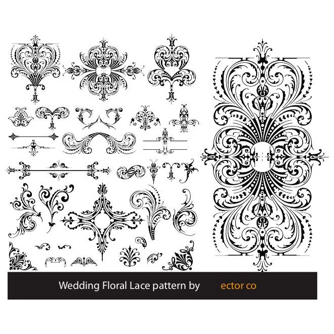 660x660 Free Floral Lace Pattern Vector.eps Psd Files, Vectors Amp Graphics