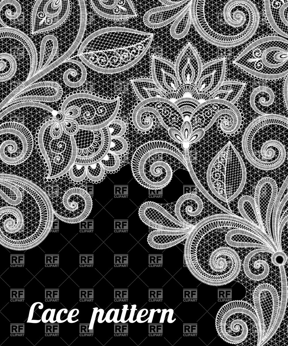 1000x1200 Abstract Floral Lace Pattern Vector Image Vector Artwork Of