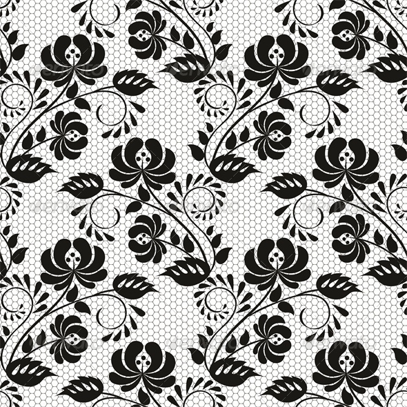 590x590 Seamless Background With Lace Floral Pattern By Prikhnenko