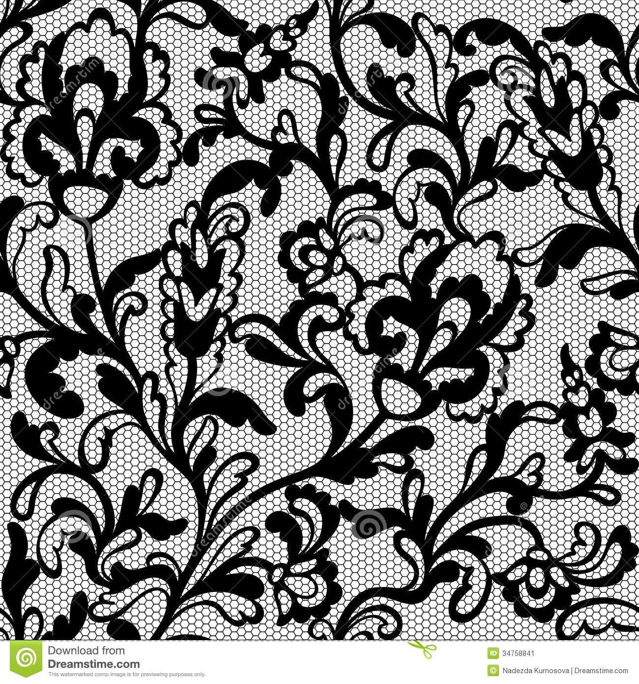 1300x1390 Seamless Flower Lace Pattern