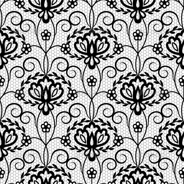 590x590 Seamless Lace Floral Pattern By Prikhnenko Graphicriver