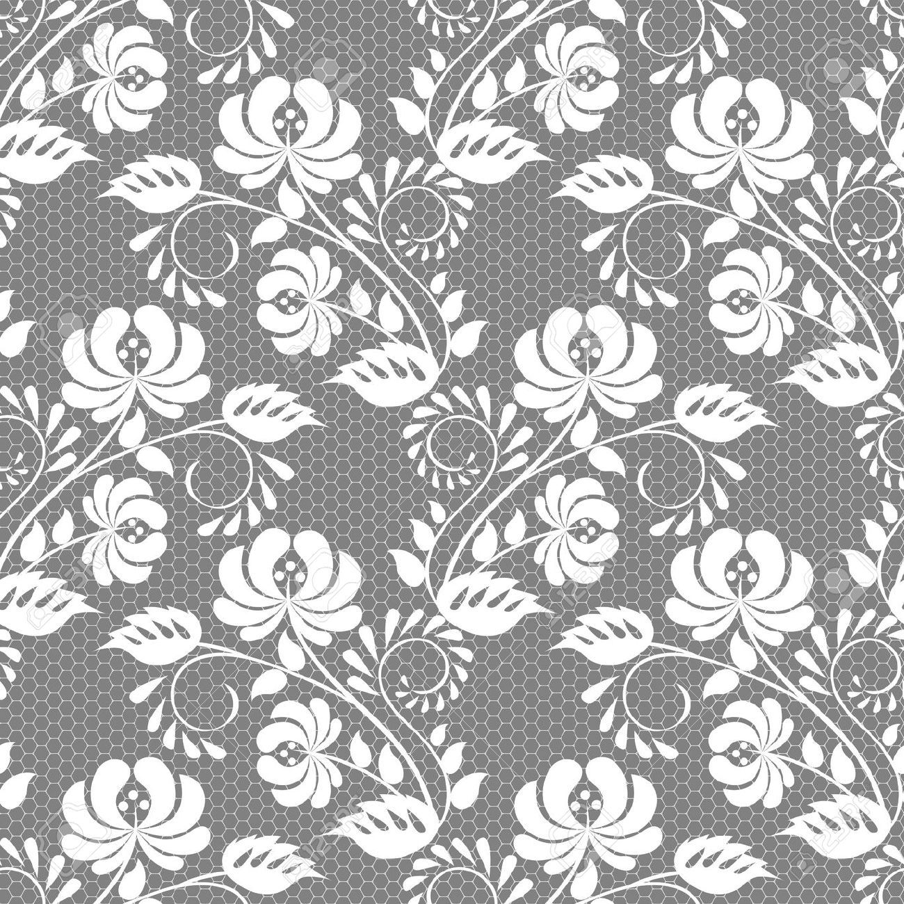 1300x1300 Seamless Floral Lace Pattern Pattern Ornament Surface