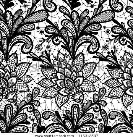 450x470 Simple Lace Patterns Vector Library Stock