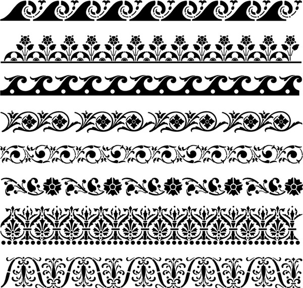 600x572 Black Floral Lace Pattern Vector Material My Free Photoshop World