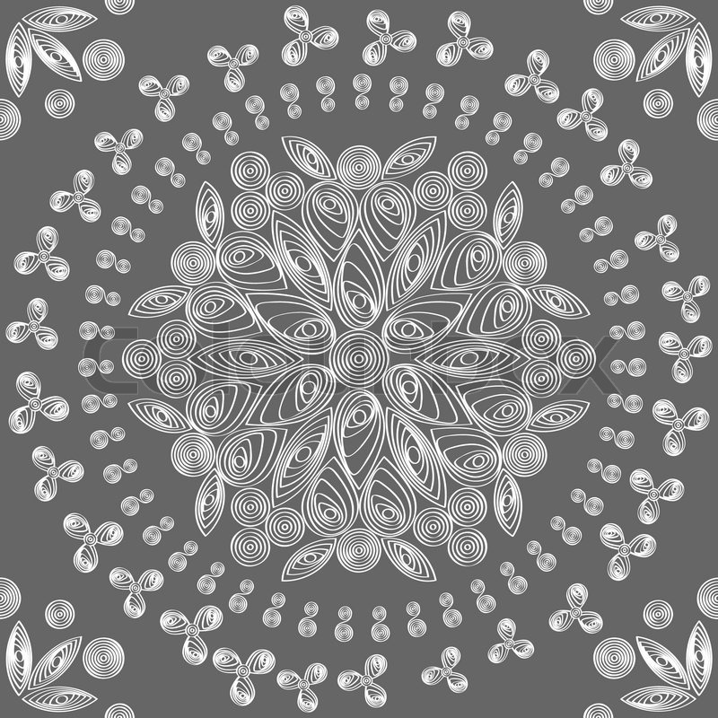 800x800 Vector Seamless Floral Lace White Pattern Stock Vector Colourbox