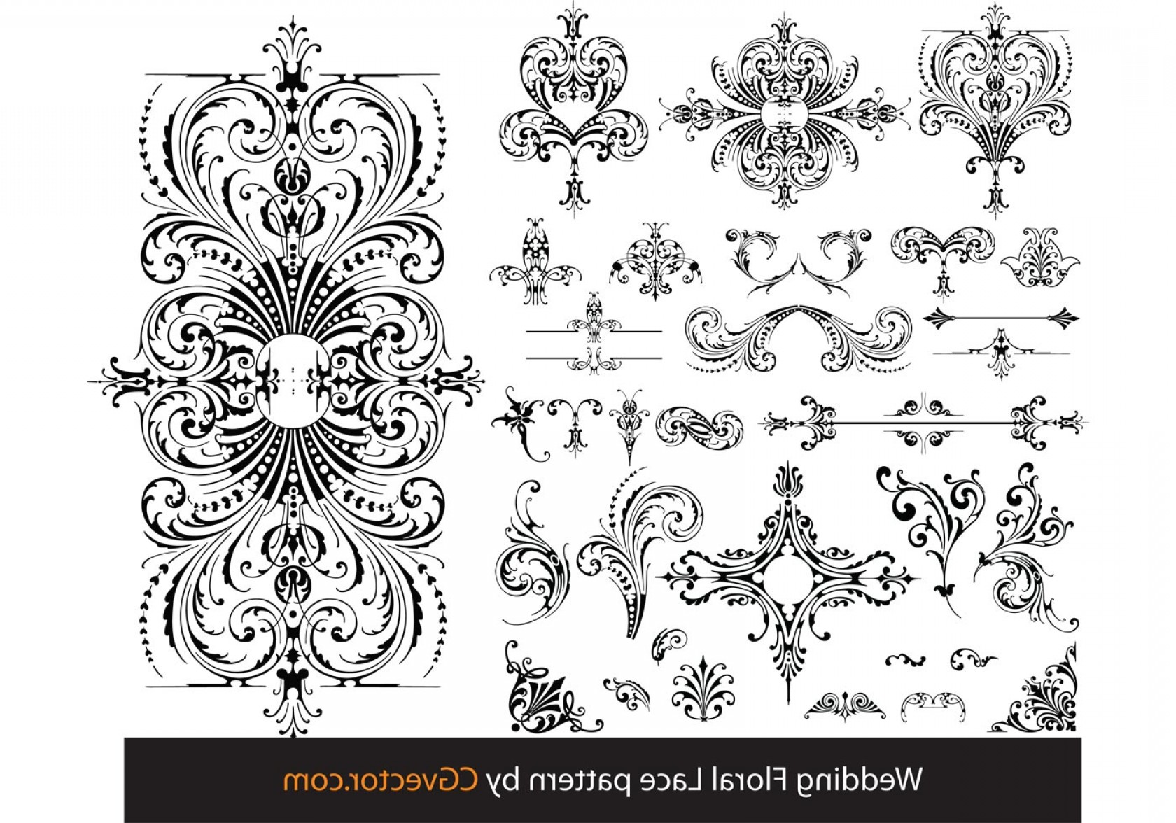1680x1176 Wedding Floral Lace Pattern Vector Shopatcloth