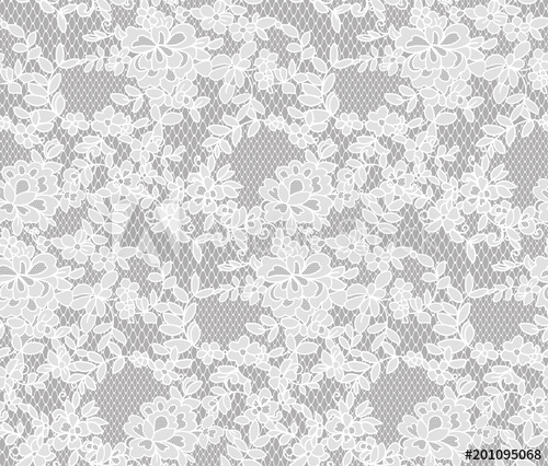 500x426 Seamless Floral Lace Pattern, Vector Illustration