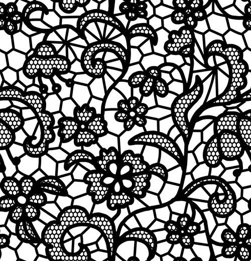 500x520 Black Lace Pattern Vector Design 10 Free Download