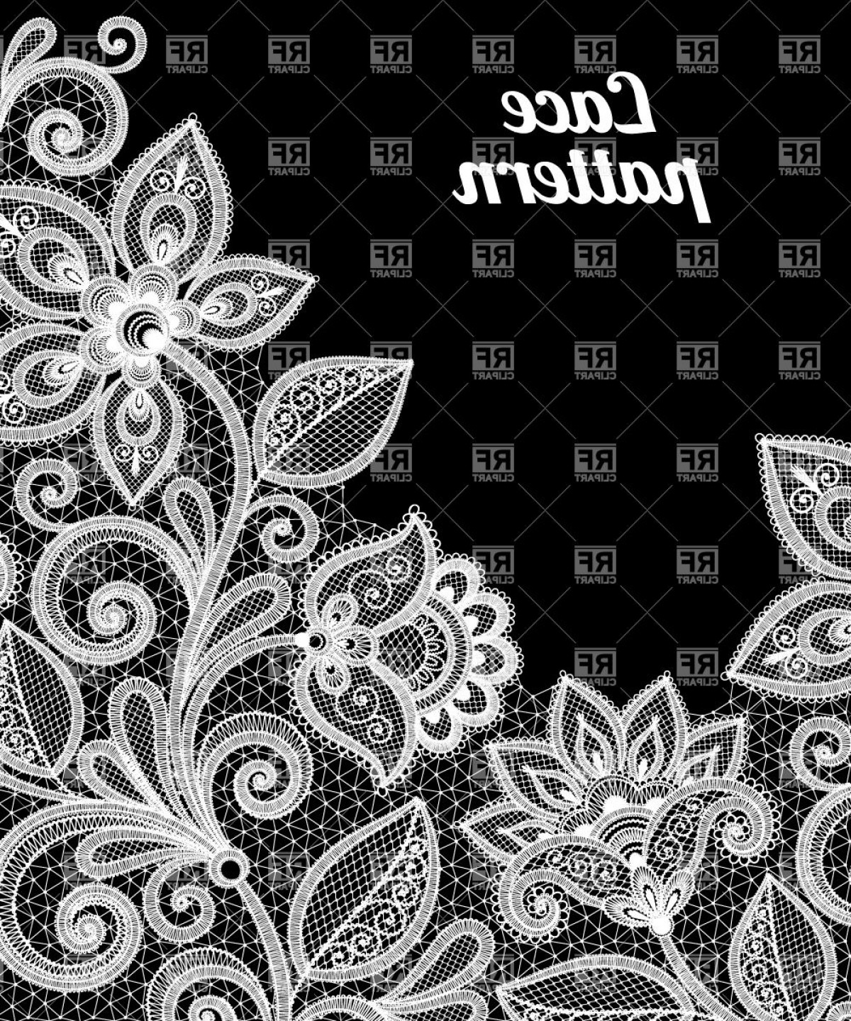 1200x1440 Floral Lace Pattern In White Color Vector Clipart Arenawp