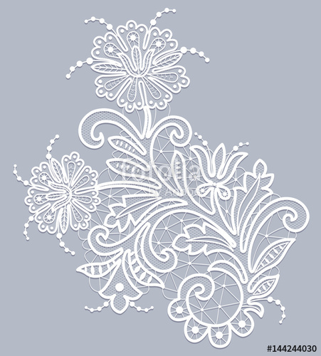 451x500 Floral Lace Pattern Stock Image And Royalty Free Vector Files On