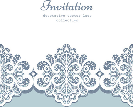454x368 Decorative Lace Invitation Cards Vector Design Png Images