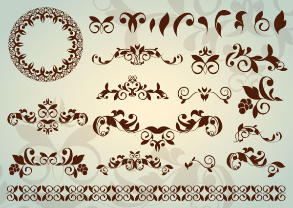 600x426 Floral Ornaments With Lace Vector 02 Free Download