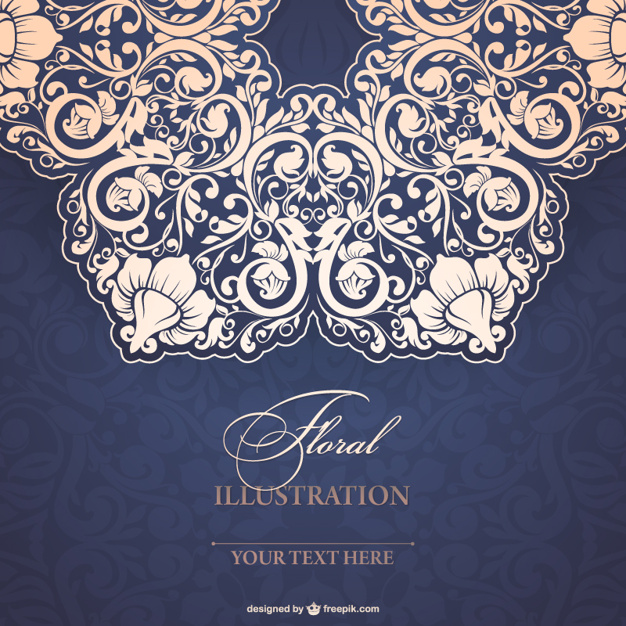 626x626 Floral Lace Illustration Vector Free Download