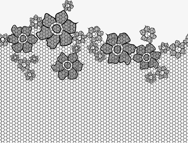 650x494 Black Floral Lace Style Pattern, Black Vector, Floral Vector, Lace