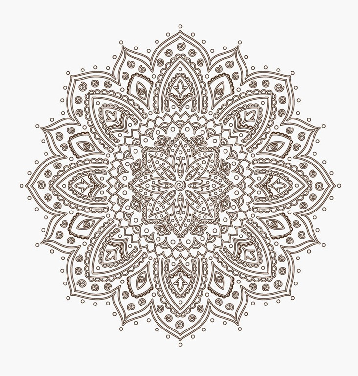 732x768 Ornamental Round Floral Lace Pattern Free Vector Lace Pattern