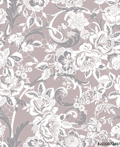 407x500 Floral Lace Seamless Pattern Stock Image And Royalty Free Vector