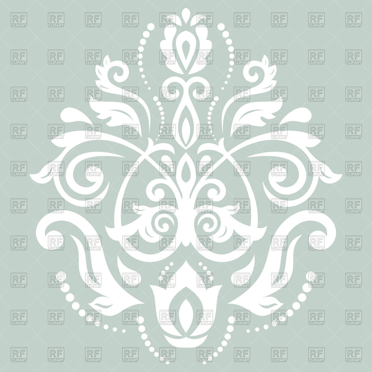1200x1200 Damask Floral Lace Pattern Vector Image Vector Artwork Of
