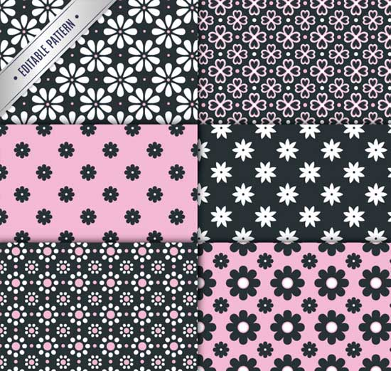 550x521 Floral Patterns Repeating Vector Backgrounds