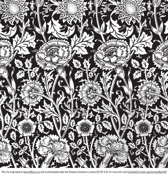 580x608 Free Floral Vector Pattern