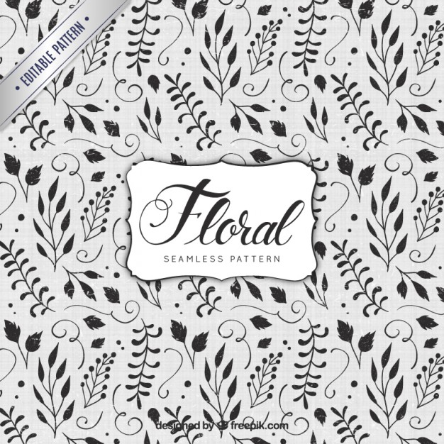 626x626 Hand Painted Floral Pattern Vector Free Download