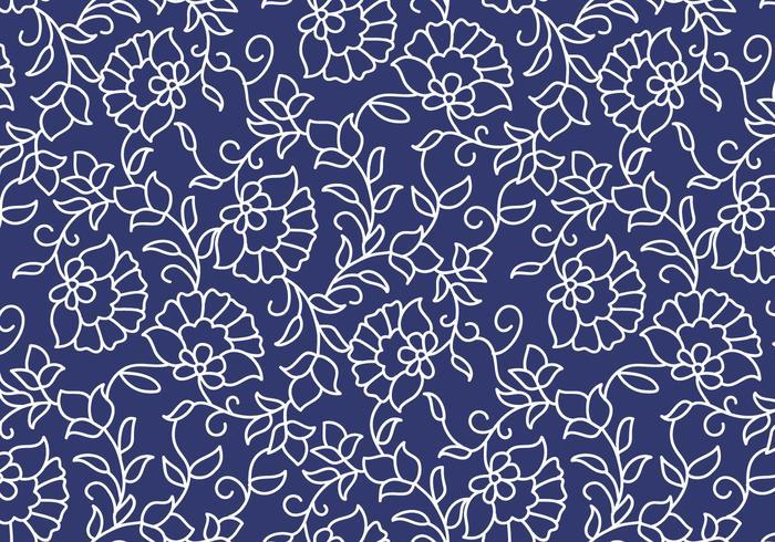 700x490 Outline Floral Pattern