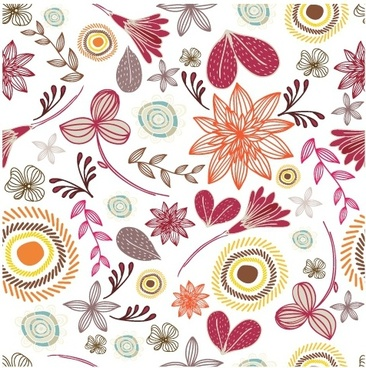 366x368 Seamless Floral Free Vector Download (9,489 Free Vector) For
