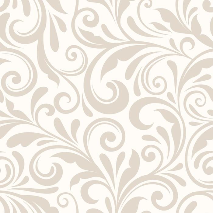 700x700 Vintage Seamless Beige Floral Pattern. Vector Illustration