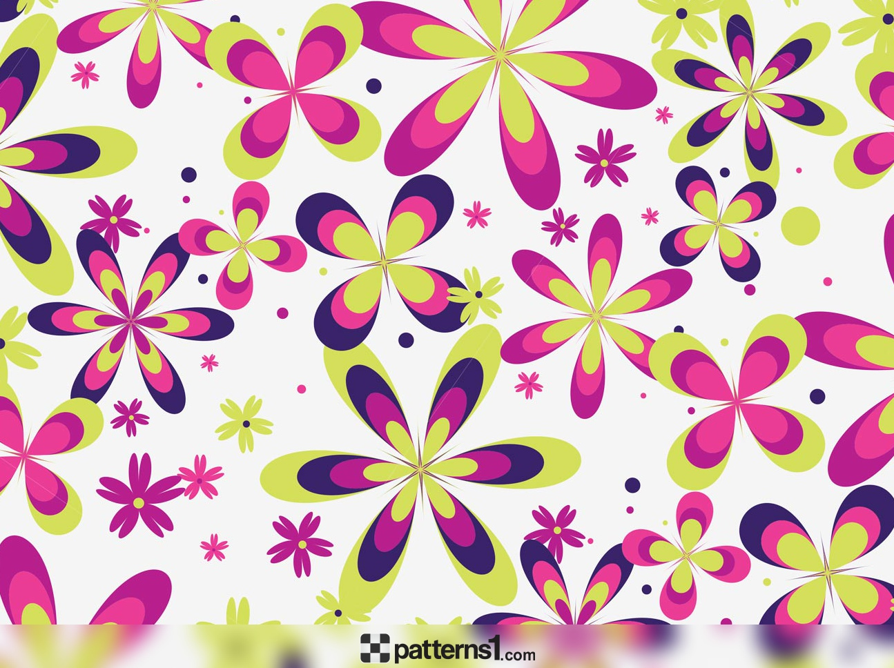 1295x968 Cute Floral Pattern Vector Vector Pattern Design By