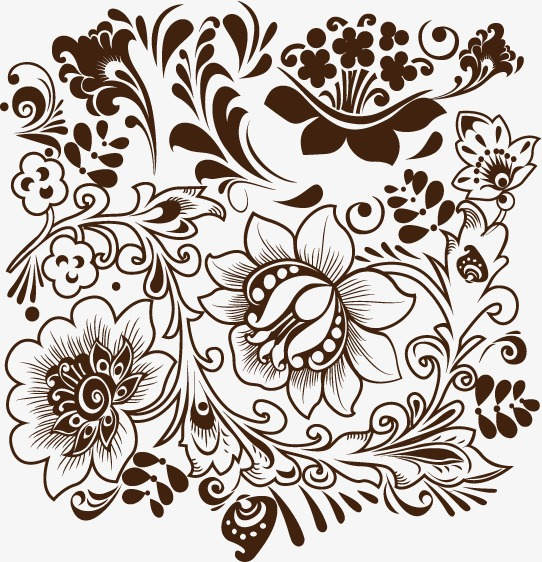 542x562 Decorative Floral Pattern, Floral Vector, Pattern Vector, Vector