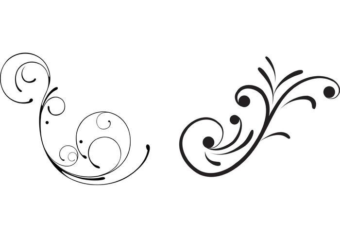 700x490 Free Swirly Floral Scrolls Vectors