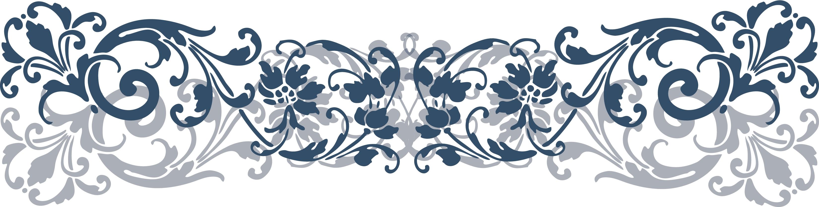 3300x837 Scroll Clipart Floral Scroll