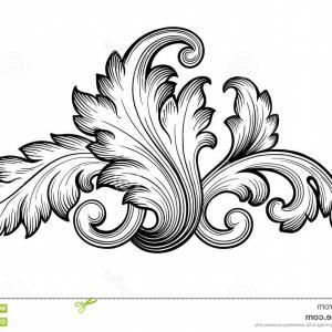 300x300 Stock Illustration Vintage Baroque Floral Scroll Ornament Vector