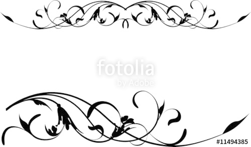 500x293 Vector Retro Floral Scroll Pattern Stock Image And Royalty Free