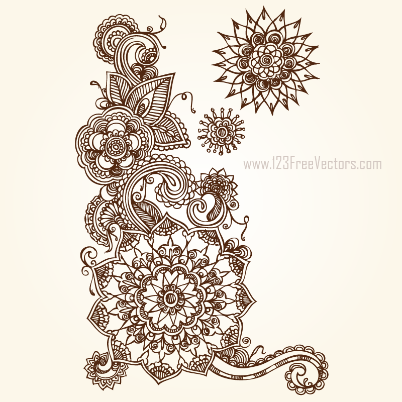 800x800 Floral Vector Eps Free Download By 123freevectors