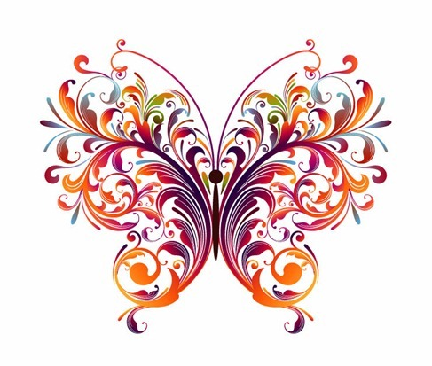 487x413 Floral Vectors Graphics Abstract Butterfly Backgrounds Social