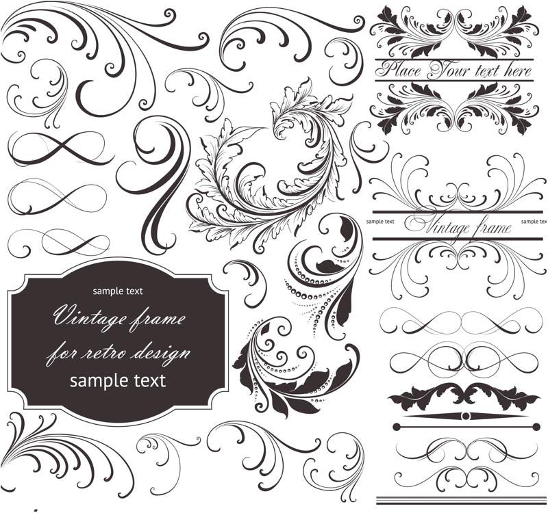 800x750 Floral Frame Embellishment Vector Graphics Blog