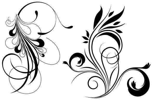 589x384 Free Floral Vector Graphics 123freevectors