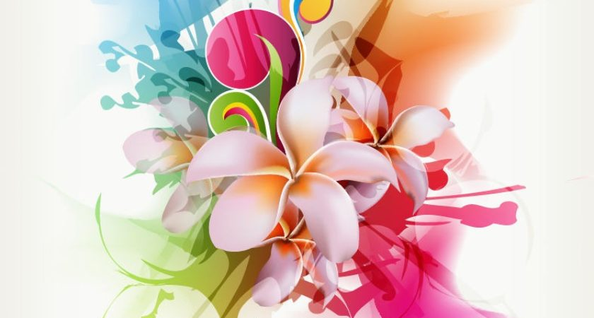 840x450 Abstract Floral Vector Illustration Artwork Graphics